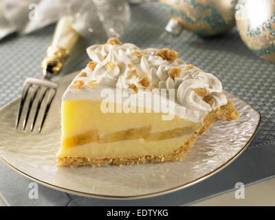 Banana Cream Pie - Stock Image