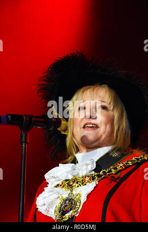 Manchester, UK. 3rd November, 2018. Manchester Lights Switch on.  Cllr June Hitchen. Manchester's Lord Mayor Credit: Della Batchelor/Alamy Live News - Stock Image