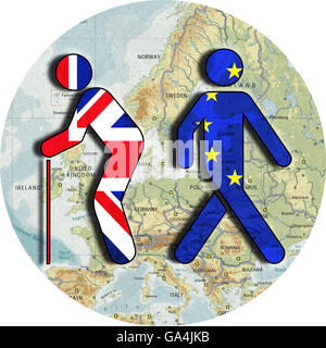 Brexit, Proposed referendum on United Kingdom membership in the European Union, England as a land of old voters, - Stock Image