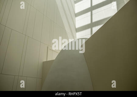 light well at bangkok's museum of contemporary art - Stock Image
