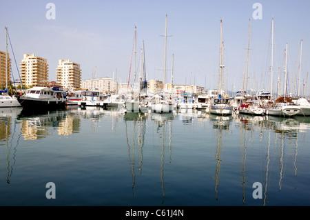 Marina, Ocean Village, Gibraltar - Stock Image