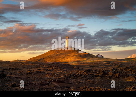 Icelandic lighthouse - Stock Image