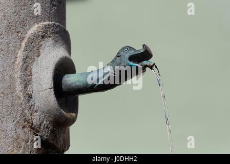 medieval water fountain - Stock Image