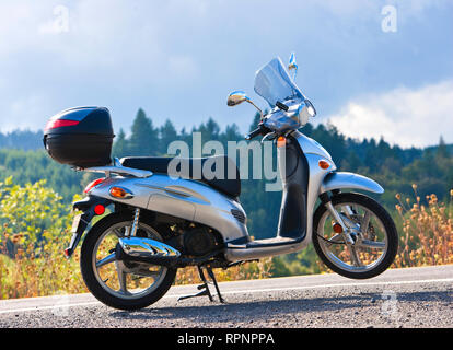 Parked Motor Scooter - Stock Image
