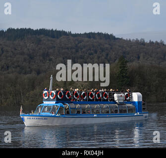 Silverholme. Diesel launch. Windermere Lake Cruises. Windermere, Lake District National Park, Cumbria, England, United Kingdom, Europe. - Stock Image