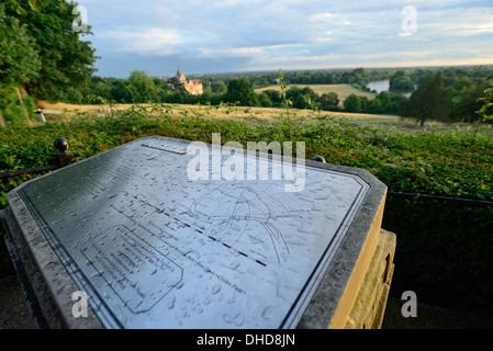 Richmond Park map - Stock Image