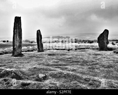 Machrie Moor Stone Circles, Arran. - Stock Image