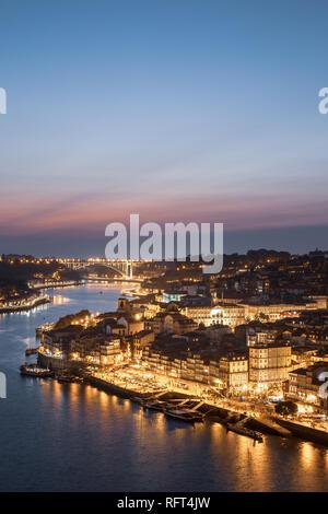 Porto, cityscape at sunset, Portugal, Europe - Stock Image