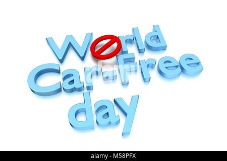 World car free day - Stock Image