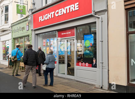 Flight Centre travel shop York North Yorkshire England UK United Kingdom GB Great Britain - Stock Image