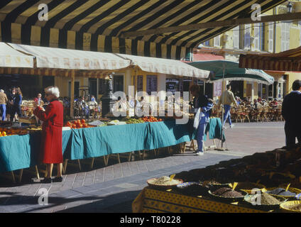 Cours Saleya Market, Nice, French Riviera, France - Stock Image