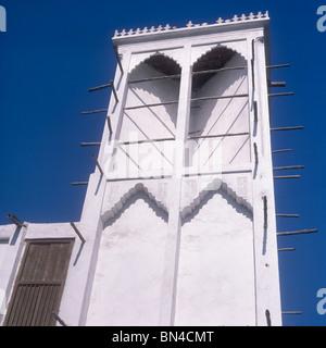 Wind tower Manama Bahrain - Stock Image