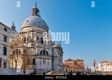 Santa Maria della Salute Church in Venice, Italy - Stock Image