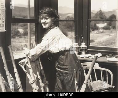 Pioneer woman - Stock Image