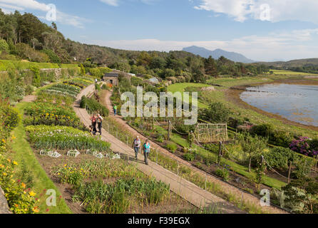 The walled garden Inverewe Gardens Loch Ewe West Ross Scotland - Stock Image