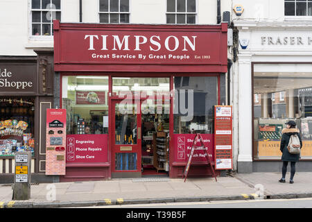 A Timpson store on the High Street in Stratford upon Avon, UK - Stock Image