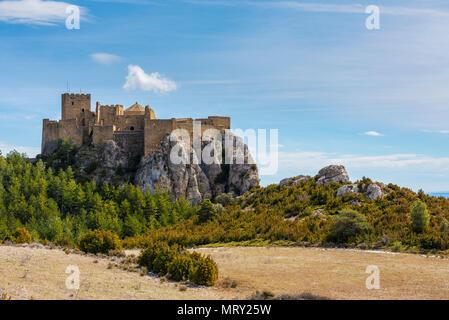 Loarre Castle, Loarre, Huesca, Aragon, Spain, Europe - Stock Image