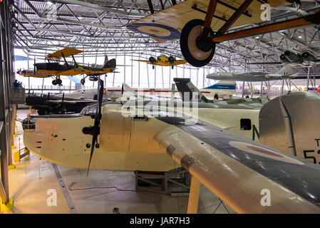 AirSpace exhibition hall - Imperial War Museum, Duxford - Stock Image