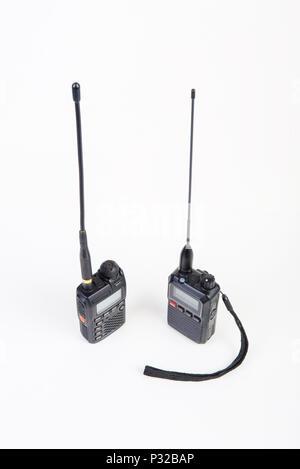 A pair of Walki-talkies - Stock Image
