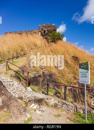 Fort Rodney, Pigeon Island, Gros Islet, Saint Lucia, Caribbean. - Stock Image