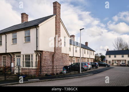 Church Close, Presteigne, Powys, UK. A development of sympathetically designed new homes in the centre of a historic small town on the Welsh borders - Stock Image