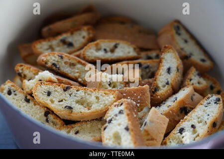 italian pastry crumbled biscotti - Stock Image
