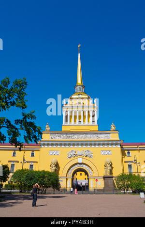 Admiralteystvo, Admiralty Building, Aleksandrovsky Garden, Saint Petersburg, Russia - Stock Image