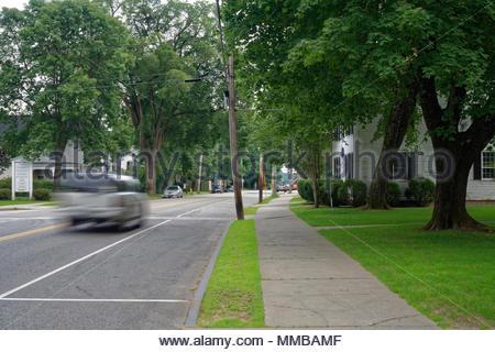 Main Street, Yarmouth, Maine, USA - Stock Image