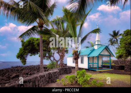 St. Peter's Catholic Church. Kona, Hawaii The Big Island. - Stock Image