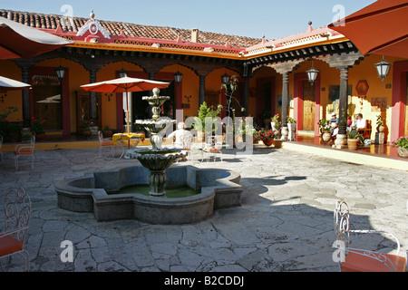 Hacienda Style Hotel, San Cristobal de Las Casas, Chiapas, Mexico - Stock Image