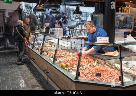 Fish Market Torget Bryggen Bergen Norway - Stock Image