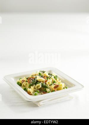 asparagus pasta - Stock Image