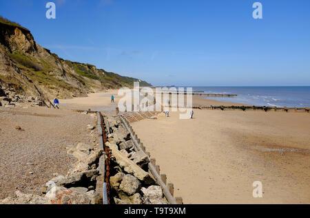 overstrand beach, north norfolk, england - Stock Image