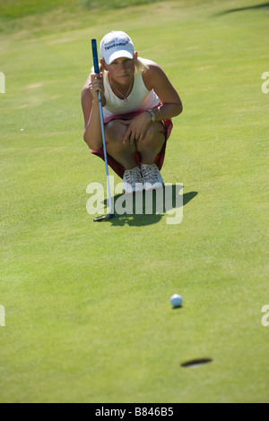 louise friberg golf player - Stock Image