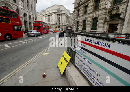 Bank station in London - Stock Image
