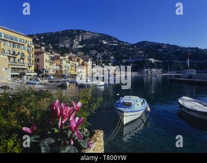 The old port. Villefranche sur Mer. Alpes Maritimes. France - Stock Image