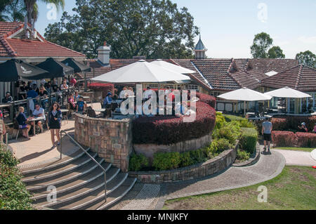 Botanic Gardens Cafe and lookout at Mt Coot-tha, Brisbane, Queensland, Australia - Stock Image