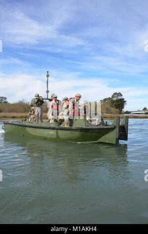 Soldiers from the 132nd Multi-Role Bridge Company's main unit in Redding and their Detachment in Eureka gathered - Stock Image