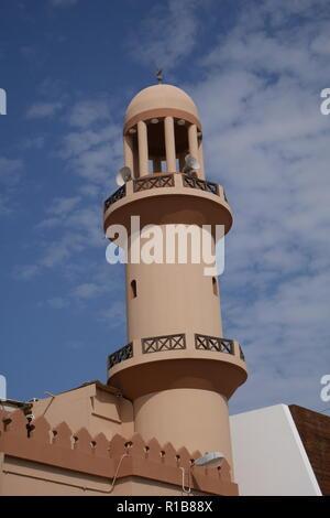 Minaret of the Ahmed Hassan Al-Zayani Mosque, Muharraq Souk, Kingdom of Bahrain - Stock Image