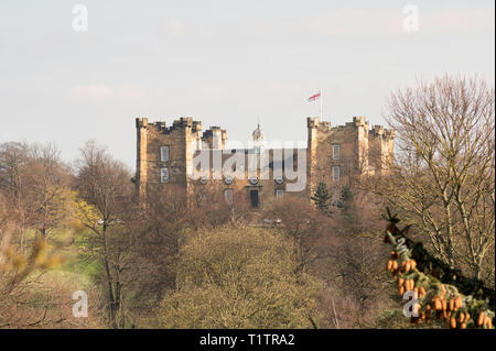 Lumley Castle seen from Chester-le-Street, Co. Durham, England, UK - Stock Image