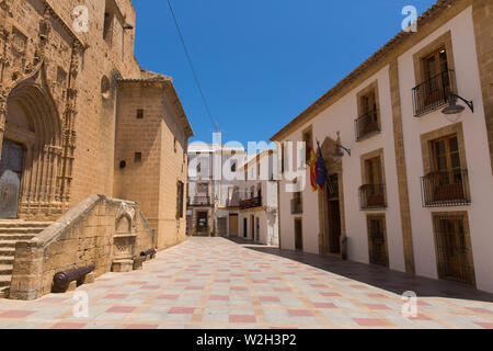 Xabia Spain view of historic buildings and streets in the old town tourist attraction - Stock Image