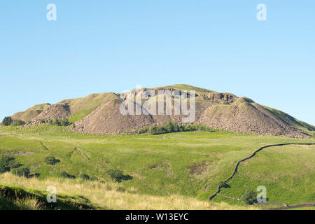 Exterior view of Crowden Great Quarry or Loftend Quarry, Derbyshire, England, UK - Stock Image