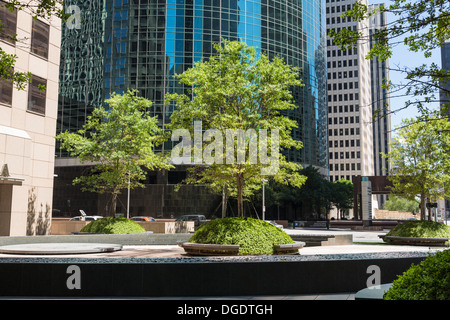 Office buildings on Wells Fargo Plaza Louisiana Street Houston Texas - Stock Image