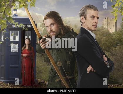 Peter Capaldi, Tom Riley, Jenna Coleman, 'Doctor Who', Season 8 - Stock Image