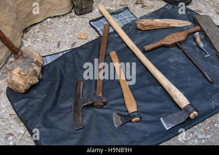 Traditional wood working and building tools - Stock Image