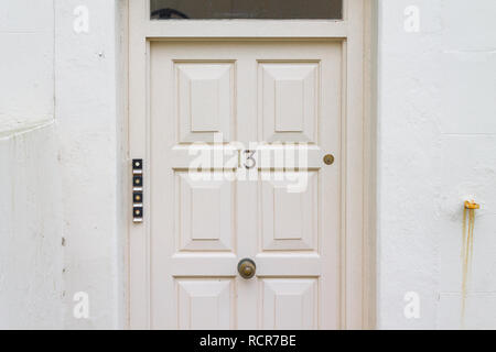 unlucky for some number 13 on a front door. - Stock Image