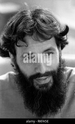 Cat Stevens now known as Yusuf Islam the singer photographed in his north London office in 1985 for Stern Magazine. - Stock Image