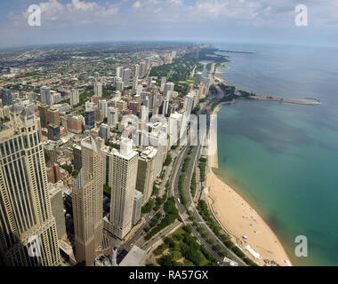 Chicago IL skyline downtown - Stock Image