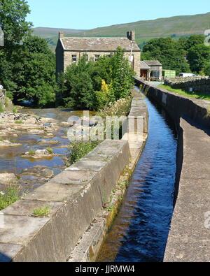 Gayle Mill, Wensleydale, Yorkshire Dales National Park, England, UK - Stock Image