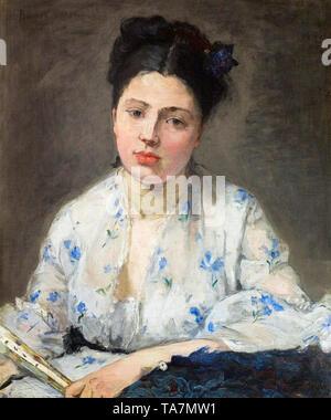 Berthe Morisot, Jeune Femme, portrait painting, 1871 - Stock Image